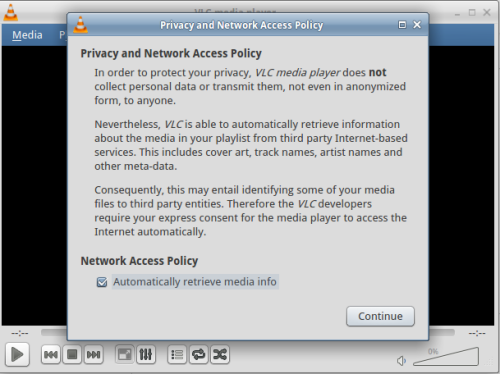 Allow VLC to search for media information
