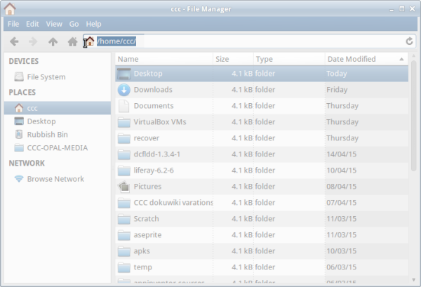 File Manager location